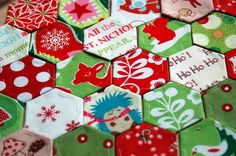 christmas hexies
