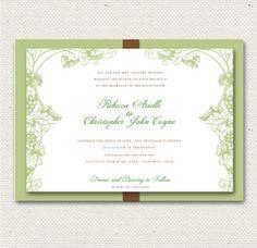 Grapevine Signature Wedding Invitation - Match to our website.  Flat print ~$360