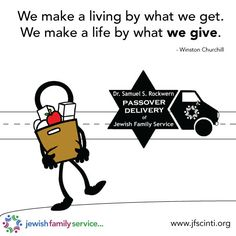 Passover delivery, passover, inspiration, quote, inspirational quote, helping others, giving