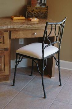 Forged Iron Side Chair 201 Western Dining Chairs