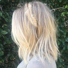 WEBSTA @ morganparks901 - Summer vibes ☀️ #901girl #ninezeroone #blondehair #fishtail