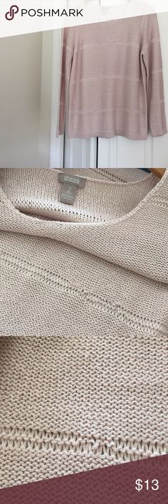 talbots pale pink sweater guc size 2 pale pink chicos sweater picture 2 shows a