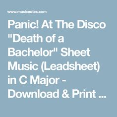 death of a bachelor download song