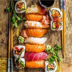 Sushi Spread. ✅ By - @dennistheprescott ✅  #ChefsOfInstagram