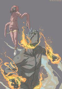 Man on fire -MGSV- by Omareiden