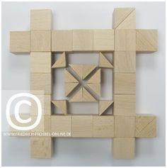 SCHÖNHEITSFORMEN (Mandalas) mit Holzbausteinen - Fröbel Baby Building Blocks, Form, Montessori, Mandalas, Inventors