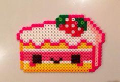 Kawaii Cake Perler Bead Sprite by KawaiiRave on Etsy