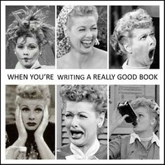 Writing Humor! These are the stages of writing a really good book, lol.