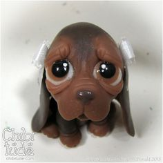 Chibitude Chibi Baby Hound Puppy - Variety Polymer Clay OOAK Handmade 20140129010