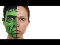 Frankenstein Face Painting Tutorial - YouTube