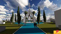 Monumento da Ressurreição, no Cemitério Central, Cascavel. aU em Rede. http://auemrede.au.pini.com.br/emrede/arquitetura/urbanismo/au-em-rede.asp