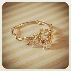 Diamond Wild Rose Ring...pinned by ♥ wootandhammy.com, thoughtful jewelry.