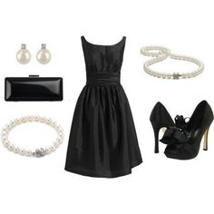 Perfect little black dress.. Take the bows of the shoes and I am in!