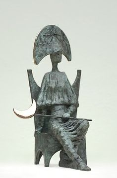 It's Only a Paper Moon. Philip Jackson sculpture.