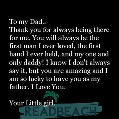 Happy Birthday Dad From Daughter, Father Daughter Love Quotes, Poem For Father, Daddy Birthday, Girlfriend Birthday, Dad Daughter, Birthday Cards, Birthday Gifts, Great Dad Quotes