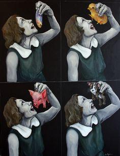 4 wrongs don't make a right - Dana Ellyn Vegan Facts, Vegan Memes, Vegan Quotes, Vegetarian Quotes, Illustrations, Illustration Art, Animal Eating, Animal Agriculture, Why Vegan