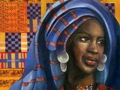 Illustration of Nana Asma'u - Heba Amin  in the 18th century she taught women to teach other women in Nigeria.