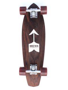 Hess Longboard - Moustache. Great looking Mini Longboard! Visit my website at http://www.thebestlongboards.net/
