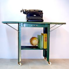 Vintage Metal Typing Table on Casters / by ConceptFurnishings, $68.00
