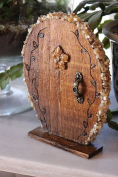 Miniature Wood Fairy Hobbit Door