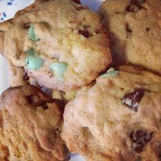 Mint dark chocolate chip cookies