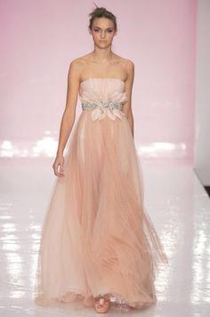 7fa59cd01436 abito da sposa stile impero rosa in chiffon adatto per gravidanza Abiti Da  Damigella D