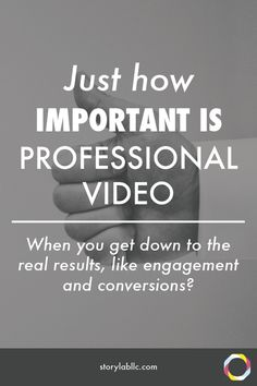 Just how important is professional video? When you get down to the real results, like engagement and conversions? Click to find out in sheer numbers!  -video quality, content marketing, videography
