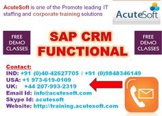 Boost your career in SAP CRM Functional At Acutesoft.
