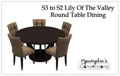 S3 To S2 LOTV Round Table Dining - Plus Recolors | Hell Has Spoken