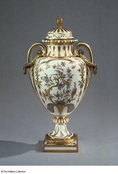 Vase and Cover  Vase 'Paris', probably 'Paris de milieu' of the second size  Manufacture de Sèvres  Jaques-François Paris (or Deparis) (1735 - 1797), Designer  Jean-Armand Fallot (active between: 1764 - 1790), Painter  Jean Chauvaux (1735 - 1807), Gilder  Sèvres, France  c. 1779