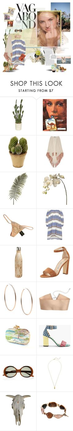 """""""West coast pvssy for my detroit playahs."""" by ducktape ❤ liked on Polyvore featuring Nearly Natural, Bajra, Sia, Chantal Thomass, Vagabond, Tanya Taylor, S'well, Manolo Blahnik, Caipirinha and Michael Kors"""