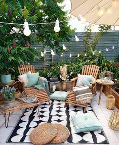 Home Decoration Ideas .Home Decoration Ideas Small Outdoor Patios, Outdoor Spaces, Outdoor Gardens, Outdoor Living, Small Gardens, Outdoor Gym, Modern Gardens, Outside Living, Backyard Patio Designs
