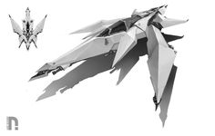 Rudd Node Fighter?  concept ships: Concept spaceship art by Drock Nicotine
