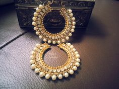 Gold Finish Chand Balis