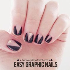 Easy Graphic Nail Art