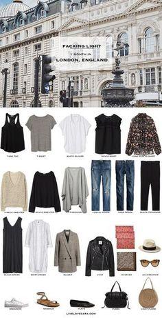 Capsule Wardrobe 2018, Travel Wardrobe, London Outfit, Travel Outfit Summer, Summer Outfits, Summer Travel, Paris Spring Outfit, Sommer In London, Summer Packing Lists
