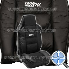 Race Sport Black Luxury Padded Lumbar Side Support Car Single Seat Cover Cushion in Vehicle Parts