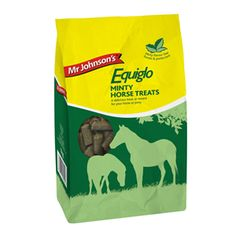 Mr Johnsons Equiglo Horse Treats Herbs 1kg Mr Johnson s Equiglo Horse Treats Herbs are a delicious herby snack for horses and ponies.