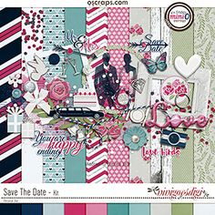 Digital scrapbooking Kit Save The Date by ninigoesdigi at The Digital Press. Perfect for your wedding, engagement or party layouts. You can feel and spread the love! Party Layout, Save The Date, Save Yourself, Digital Scrapbooking, Dating, Kids Rugs, Mini, Wedding Engagement, Creative