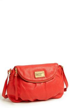 MARC BY MARC JACOBS Classic Q Natasha Crossbody Flap Bag in Apple Red $328.00 #MarcbyMarcJacobs