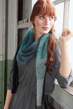 Lana Grossa KLEINES TUCH IM DEGRADÉ Silkhair - FILATI Accessoires No. 16 - Modell 7   FILATI.cc WebShop