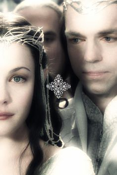 Everyone always watches Arwen in this scene but me, I prefer to watch Elrond. The look on his face and the tears in his eyes always gets to me. The War is won, Middle Earth is safe, and his daughter is alive, but he still loses. He wants Arwen's happiness but in order for that to happen he has to let her go. She's going to marry Aragorn and he's going to sail to the Undying Lands and they will never see each other again. This is a bittersweet moment for Elrond, and it shows.