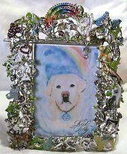 Kirks Folly Best Friends Rainbow Bridge Picture Frame Silvertone Crystals Pets