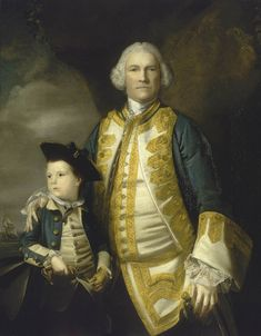 Admiral Francis Holburne, 1704-71, and his son, Sir Francis, 4th Baronet, 1752-1820. In 1755 he went with reinforcements to America, with Boscawen and Loudon, and two years later sat on Byng's court-martial. He was for eight years Commander-in-Chief at Portsmouth, was made Rear-Admiral of England in 1770 and was briefly Governor of Greenwich Hospital in 1771. At the same time he was MP for Plymouth , 1768-71.