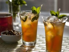 Try mint tea infused cocktails!