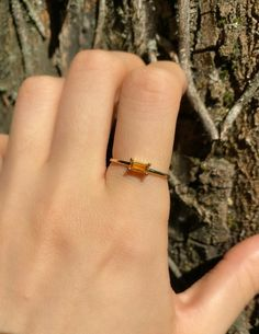 1Ct Baguette Cut Yellow Citrine Women's Engagement Ring 14K Yellow Gold Finish | eBay Citrine Ring, Citrine Gemstone, Gemstone Rings, Baguette, Solid Gold, White Gold, Red Green Yellow, Looks Vintage, 1 Carat