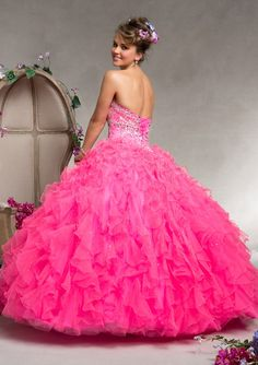 Quinceanera Dress From Vizcaya By Mori Lee Style 88069 Ruffled Tulle with Beading