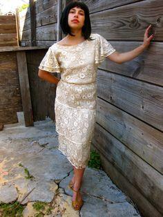 Vintage Lace Dress by RoseBoni on Etsy, $100.00