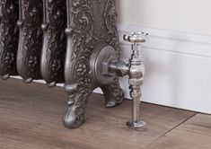 The Daisy valve in chrome Decor, Traditional Radiators, Door Handles, Iron, Toilet Paper Holder, Home Decor, Holder, Chrome