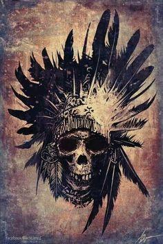skull and headdress